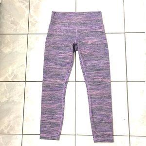 Lululemon Woman's Purple Cyber Striped Leggins